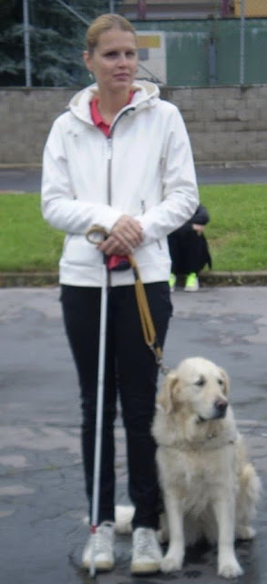 Linda s vodícím psem Priscillou