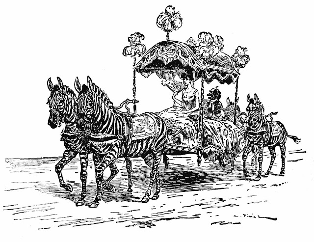 A. Vimar illustration 1917, zebras in procession