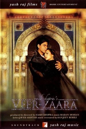 Poster Of Veer Zaara 2004 Hindi 720p BRRip Full Movie Download