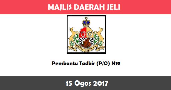 Jawatan Kosong di Majlis Daerah Jeli
