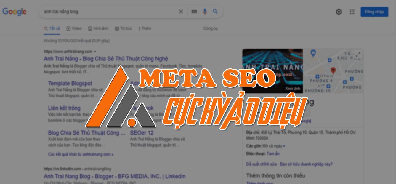 Bộ thẻ Meta SEO làm chủ Google cực kỳ ảo diệu