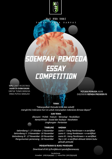 Soempah Pemoeda Essay Competition By HMI FEB UNRI 2019
