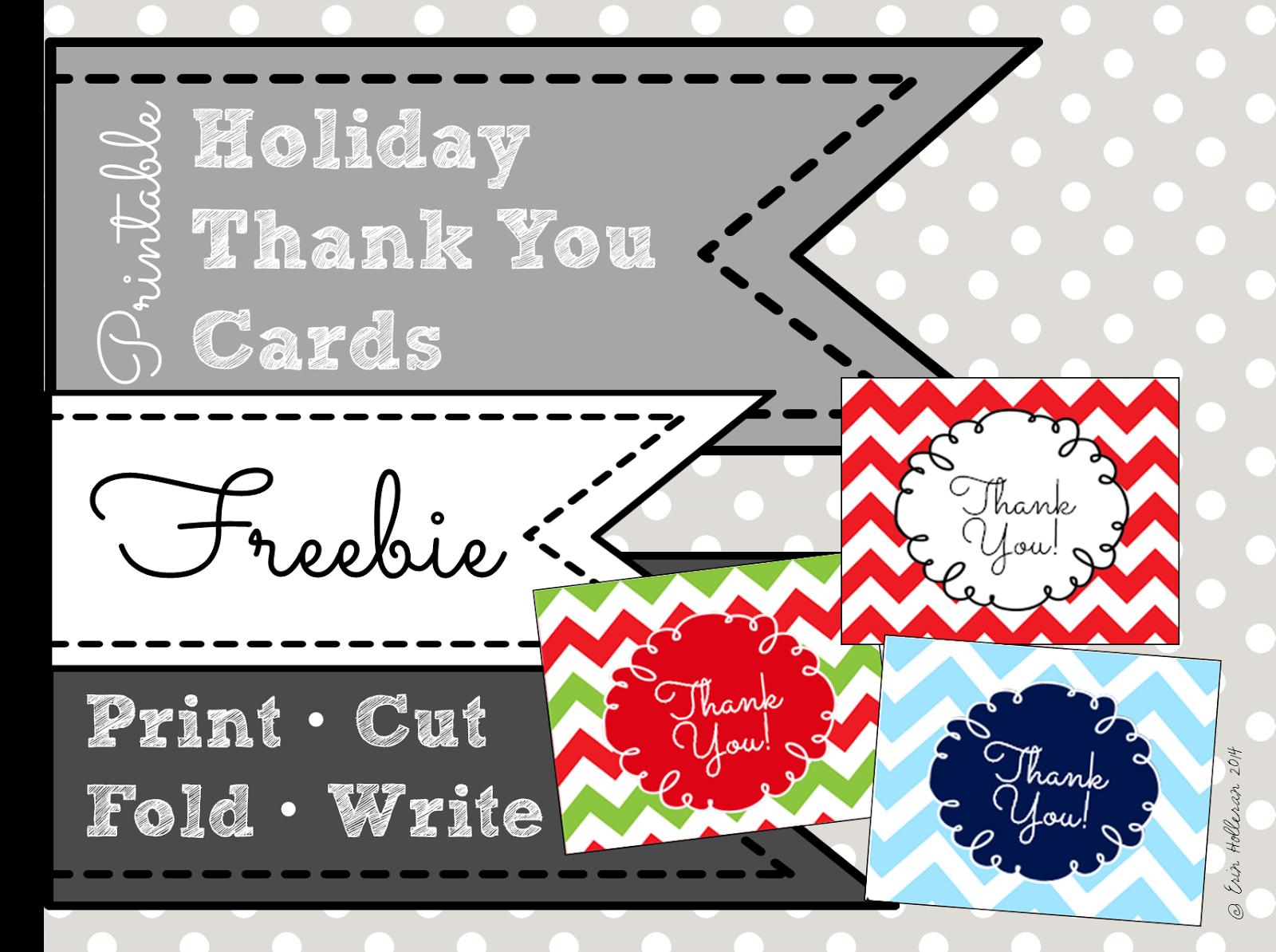 Preschool Ponderings Printable Teacher Thank You Cards