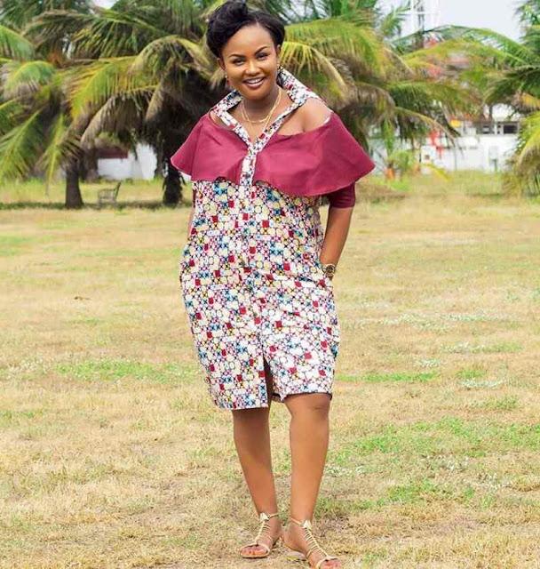 Nana Ama McBrown Ankara short gown styles