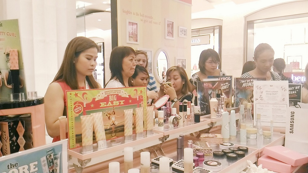 benefit cosmetics philippines, free make-up swatches