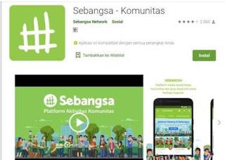 Aplikasi Media Sosial Bernama Sebangsa Network