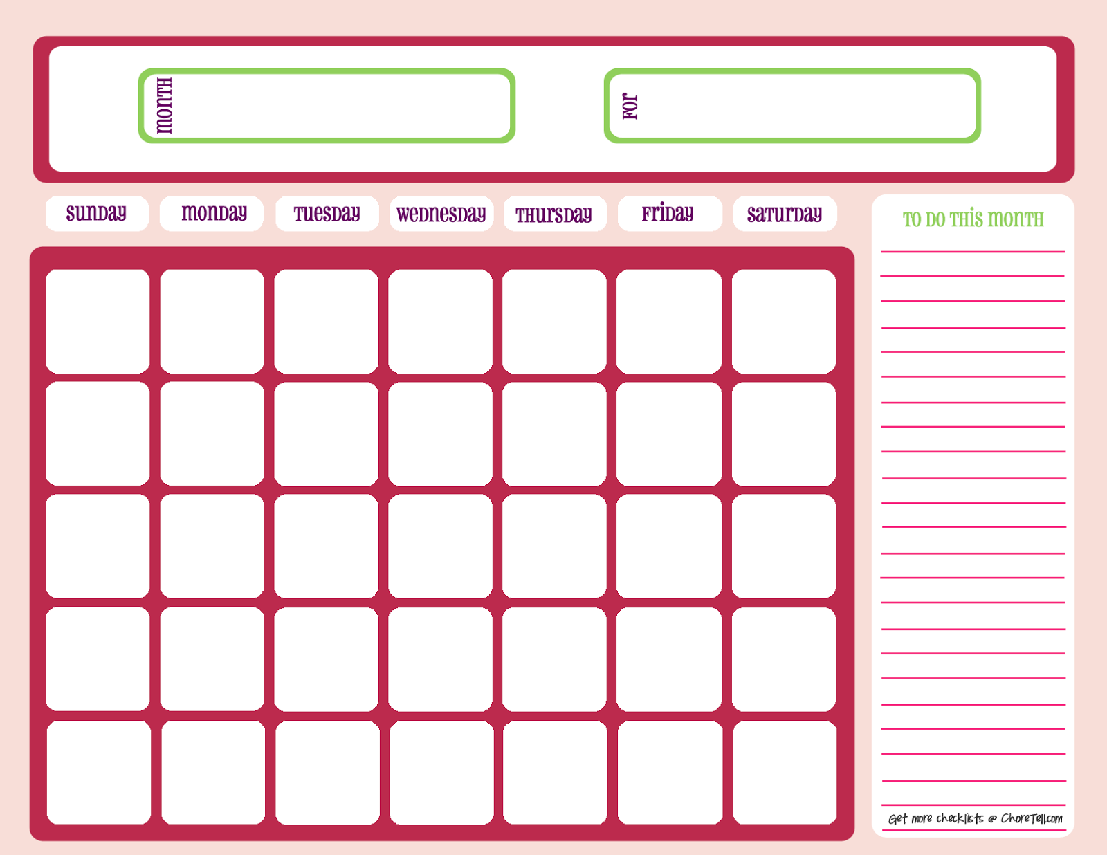 A4 Printable Yearly Calendar 2019 | Task Management ...