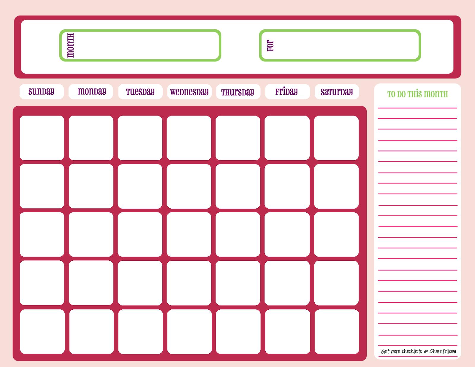 empty checklist template