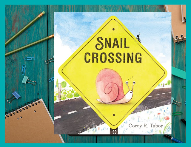 snail crossing picture book and activities