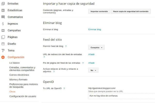 Importar contenido de Wordpress a Blogger