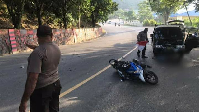 Kecelakaan Antara Mobil Pick Up dan Motor di Batas Kota, Pengendara Motor MD
