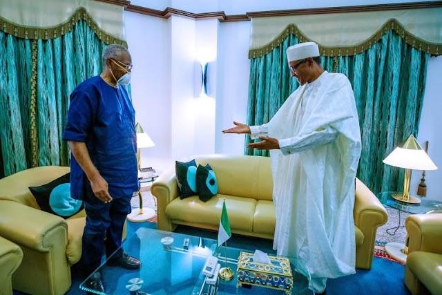 PHOTOS: Buhari hosts TY Danjuma — after dispute on insecurity