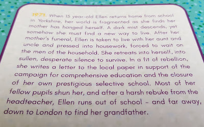 Ellen Lives On by Lynda Haddock back page blurb tw suicide of a relative