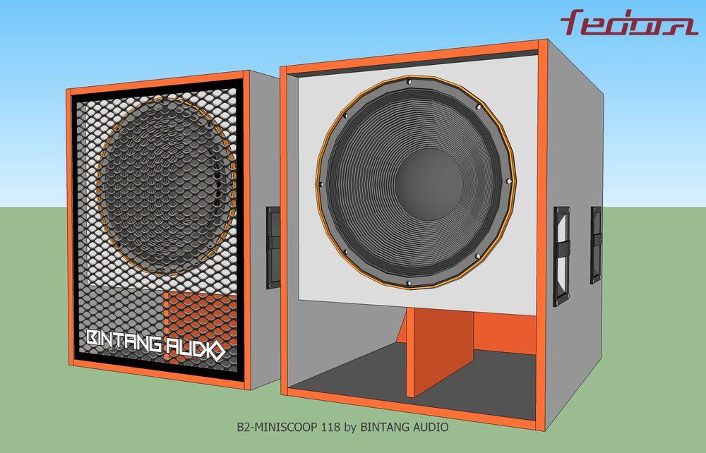 Speaker Box Mini Scoop tanpa dan dengan Ram Besi