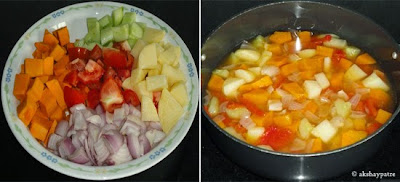 vegetables boiled to make dudde kolmbo