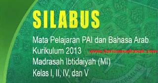 Silabus Mapel PAI dan Bahasa Kurikulum 2013 MI