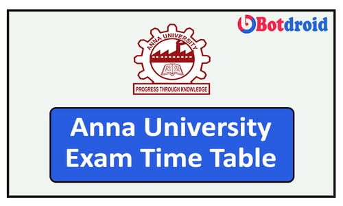 Anna University Exam Time Table 2021 | UG/PG New Exam Time Table Released