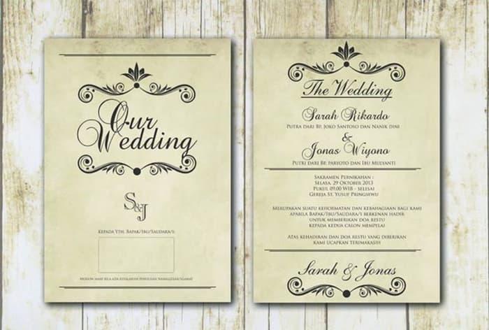 Percetakan undangan nikah, khitan, dan lain - lain