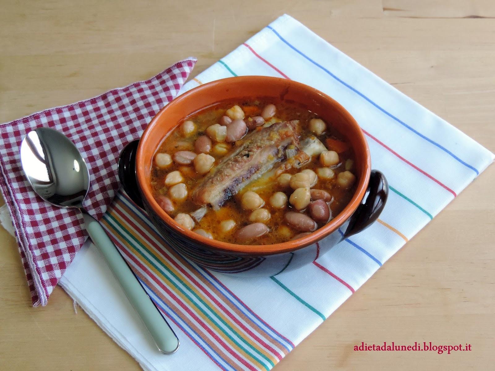 come zuppa di legumi fazer per la dieta