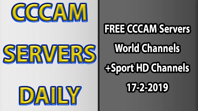 FREE CCCAM Servers World Channels +Sport HD Channels 17-2-2019