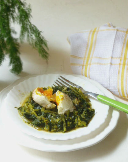 erbe spontanee stufate: ricetta corfiata
