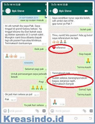 Handrail Kloset pesanan Bpk Steve di Cipinang Jakarta Timur