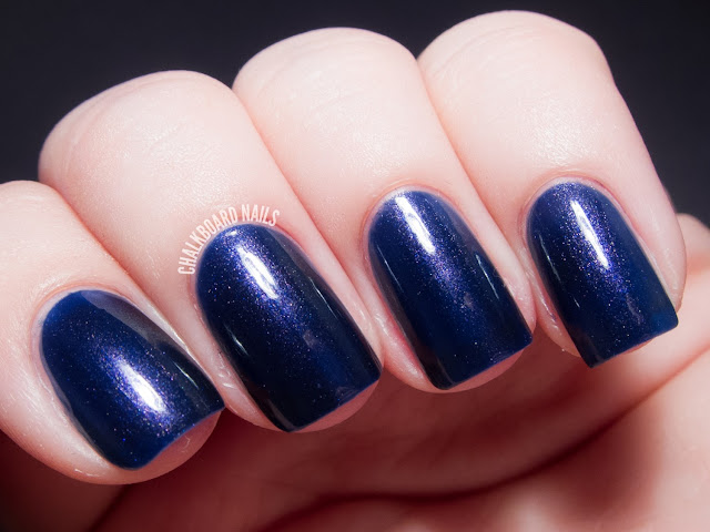 Chalkboard Nails: Contrary Polish Indigo Rose