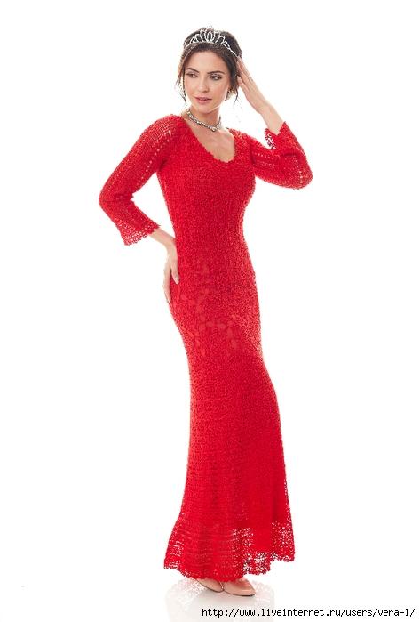 hot sale online 50a4e c5b2f Uncinetto d'oro: Meraviglioso abito rosso da sera!