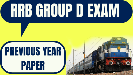 Railways RRB Group D exam previous year question papers, Railways RRB Group D exam previous year question papers in Bengali