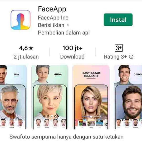 """Cara menggunakan FaceApp Untuk mengikuti tantangan """"Oplas Challenge"""" di Instagram dengan merubah foto wajah seolah tampak habis operasi plastik."""