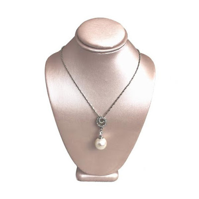 Champagne Color Necklace Display Bust is perfect for bridal necklaces | NileCorp.com