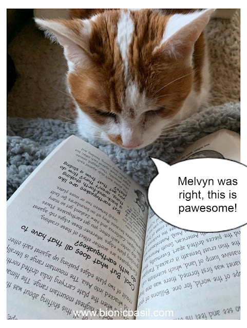 Book Reviews with Amber and Melvyn #126 ©BionicBasil® Amber reading Why is Snot Green