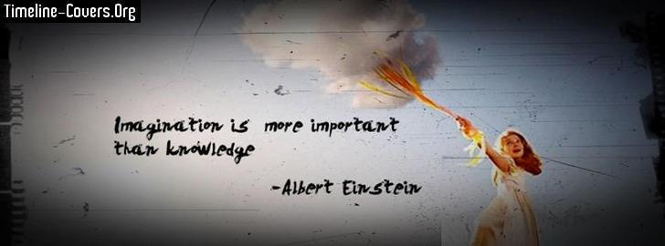 Albert Einstein Imagination Quote   Facebook Covers