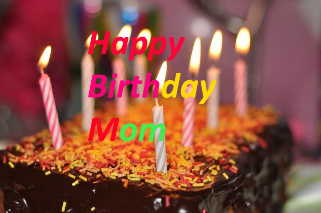 Happy Birthday mom Cake wishes