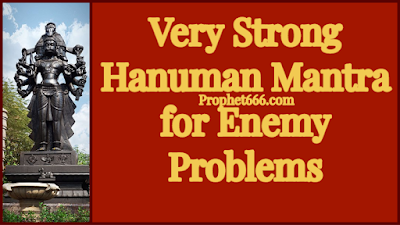 Very Powerful Hanuman Mantra for Enemy Problems