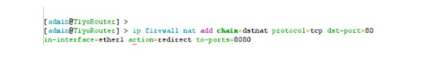 Port Forwarding Multiple Webserver Different Domains Mikrotik CLI Terminal Terminal