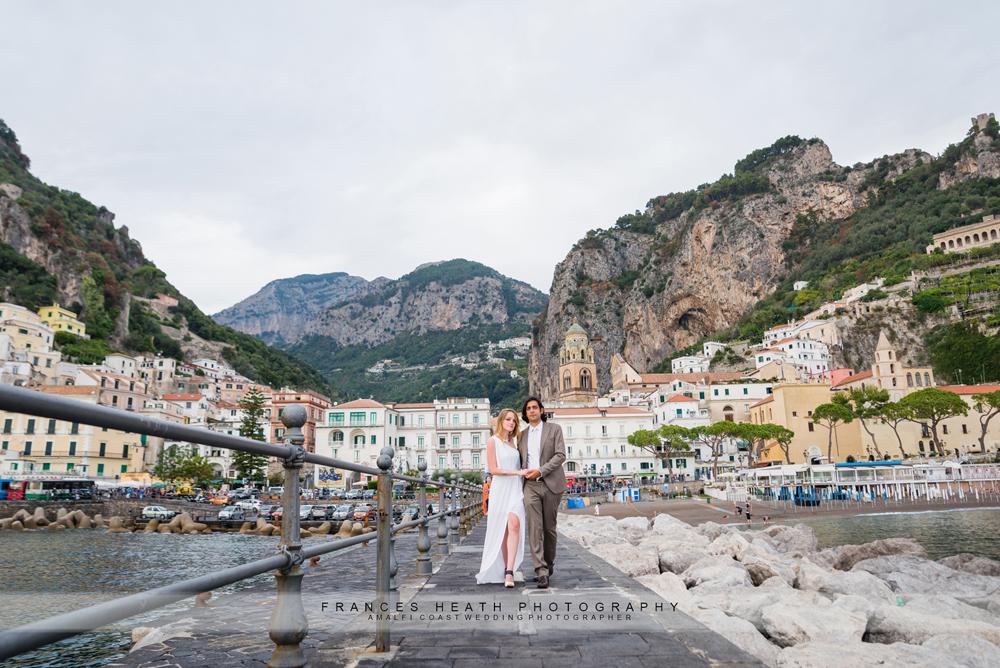 Amalfi coast destination wedding portrait