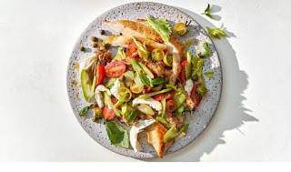 How to make Chicken Paillard With Caprese Panzanella