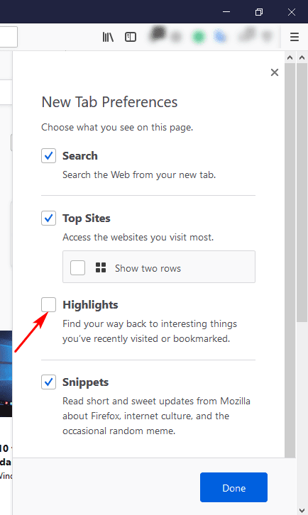 firefox 57 remove page actions