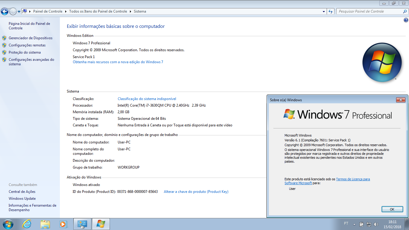 Windows 7 e 10 Pro