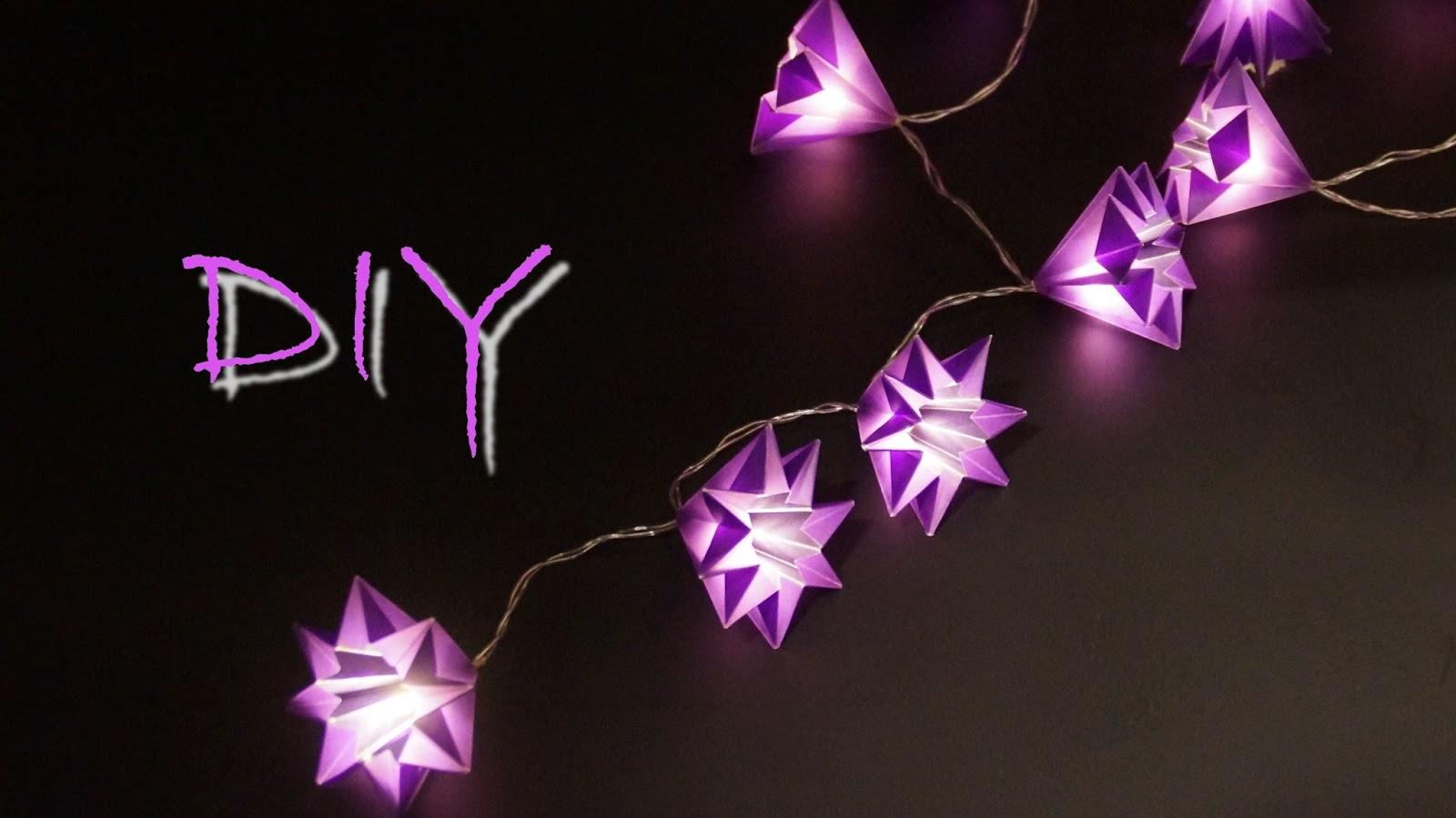 basteln und mehr lichterkette basteln zu weihnachten sternen lichterkette falten. Black Bedroom Furniture Sets. Home Design Ideas