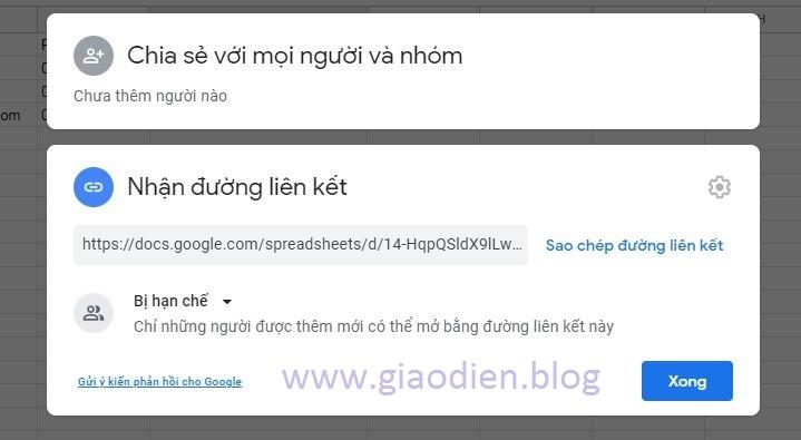 Lấy dữ liệu từ Google Sheet lên blogspot