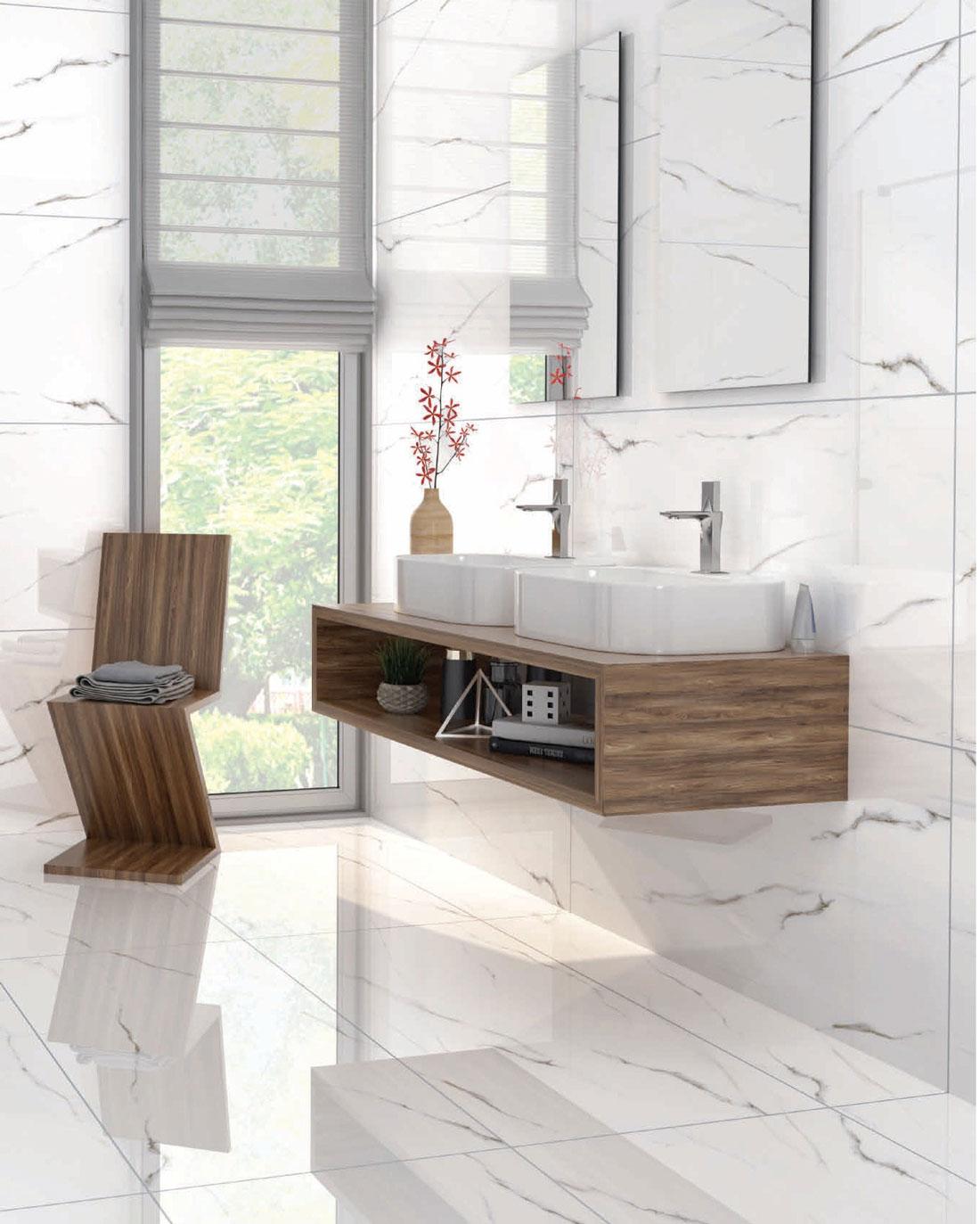 White-marble-tile-bathroom