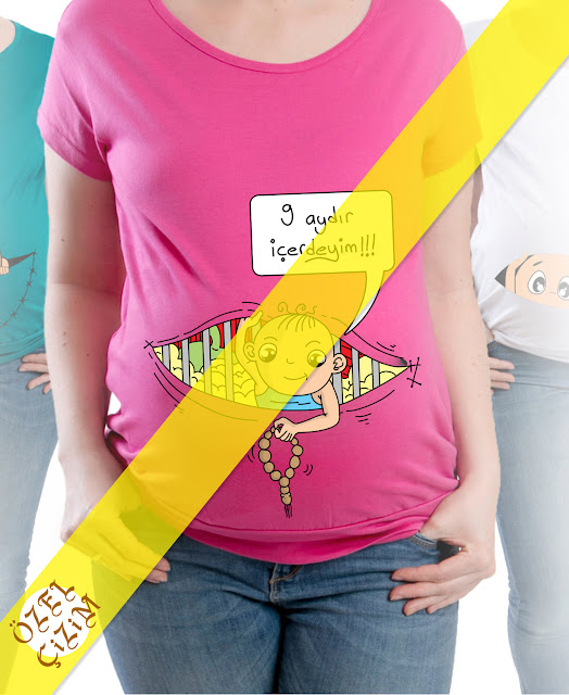 Karikatür Çizdir, karikatür, hamile tshirti, hamile hediye, bebek tshirt, komik tshirt, hediye hamile tshirti, hamile kıyafetleri, hediye, özel tshirt, Özel Çizim, bayan tshirt