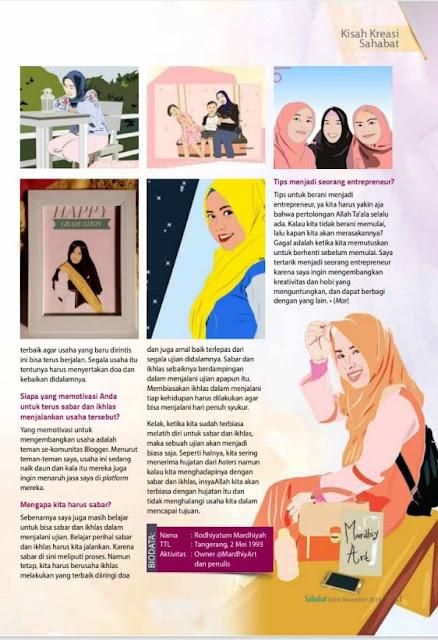 Rasanya Masuk Majalah Sahabat Sebagai Seorang Entrepeneur di Bidang Digital Art