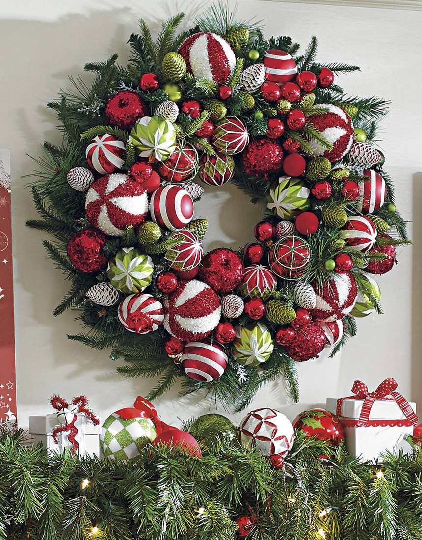 Grandin Road Deck the Halls Wreath