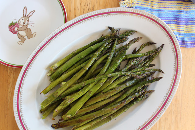 roasted asparagus, vegan easter
