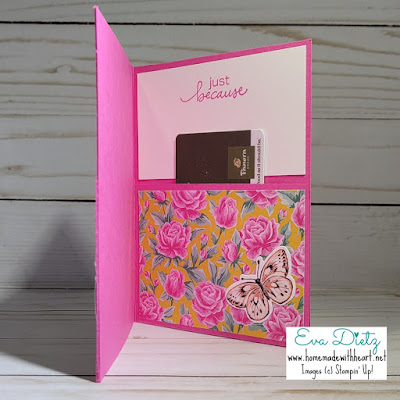 Inner Magenta Madness Gift pocket Card