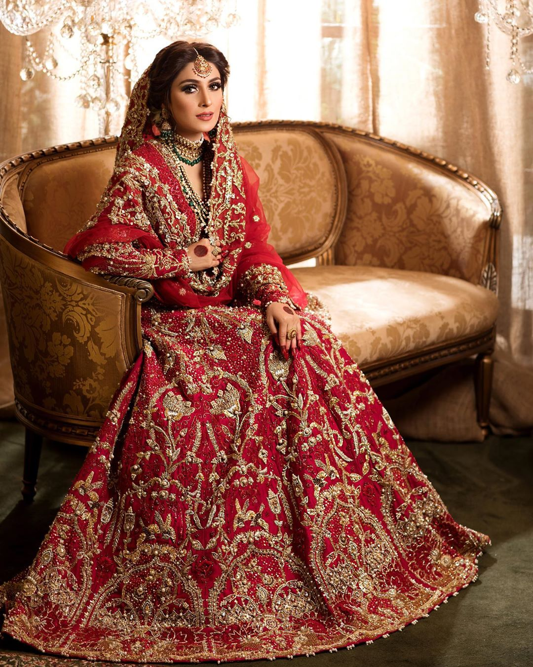 Ayeza Khan New Bride Shoot for Hifsa Salon