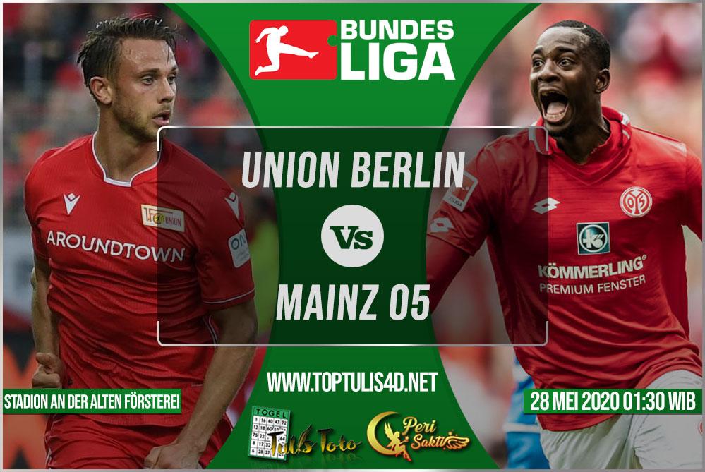 Prediksi Union Berlin vs Mainz 05 28 Mei 2020